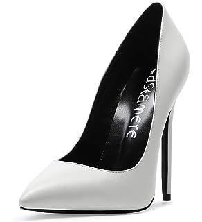 cb53f28f495d18 CASTAMERE Escarpins Femme Talon Doublure Noir Sexy Talon Haut Aiguille Bout  Pointu High Heels Chaussures Stilettos