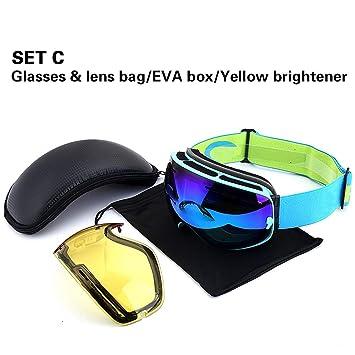 Gafas De Esquí, Snow Snowboard Goggle sobre Gafas con Antiniebla ...