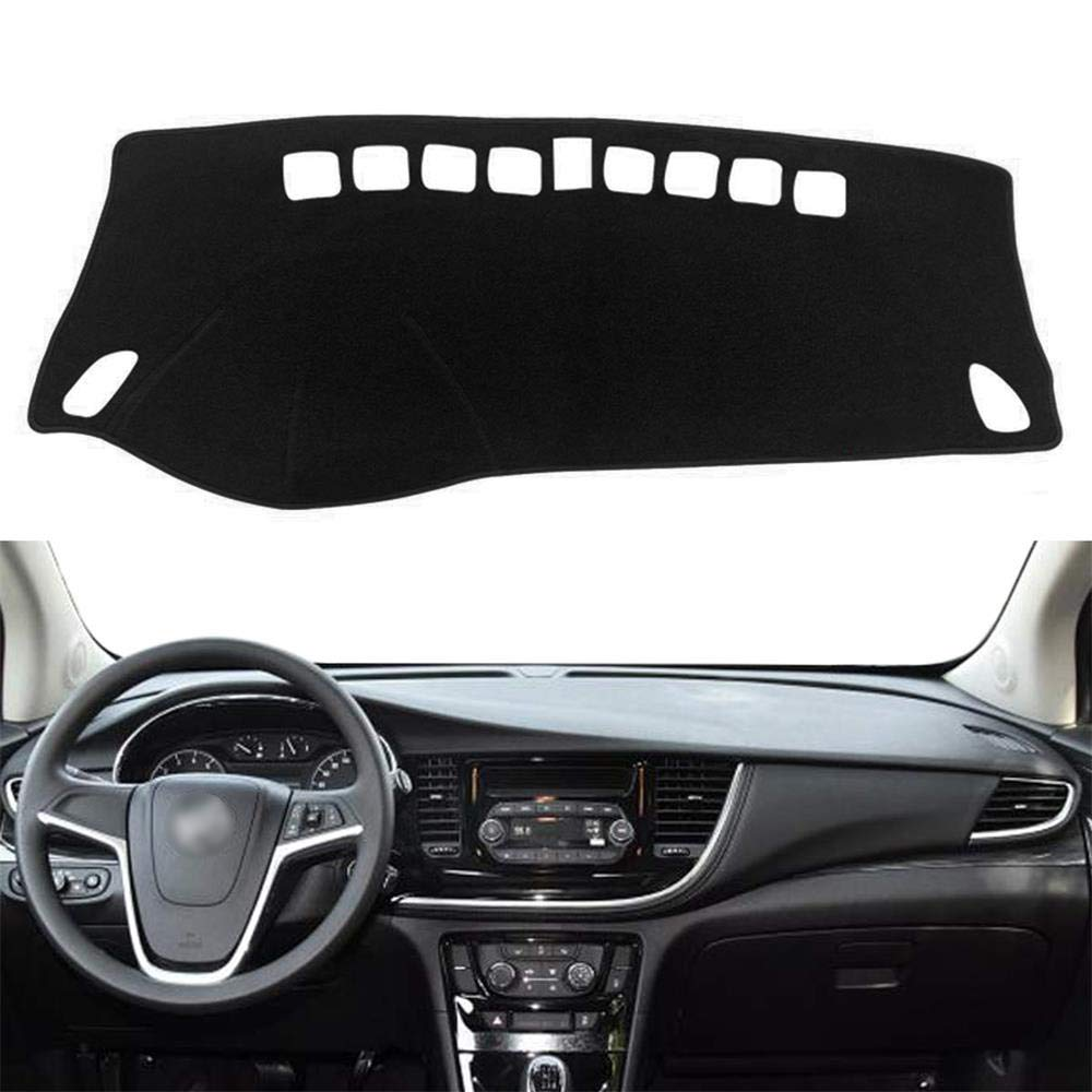 Yeeoy Black Dashboard Dash Protector Dash Mat Sun Cover Pad Fits 2013-2019 Buick Encore