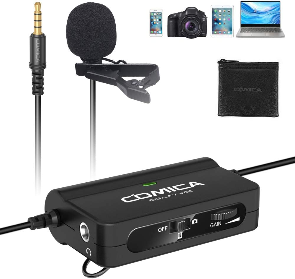 External 3.5mm Clip-on Microphone For PC Laptop Smart Phones UK