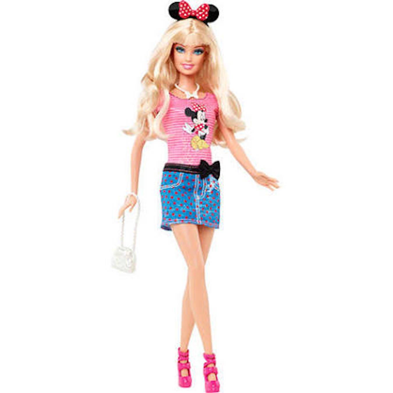 Barbie und Disney Minnie Mouse.Ein Tag in Disney World