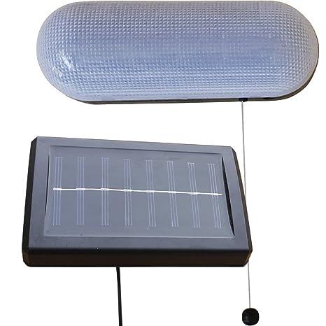 Zennox - Luz solar resistente a la intemperie, color negro, con cordón de tirar