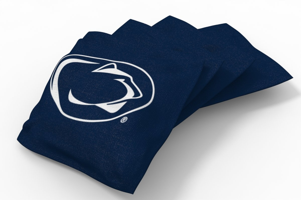 Wild Sports NCAA College Penn State Nittany Lions Blue Authentic Cornhole Bean Bag Set (4 Pack)