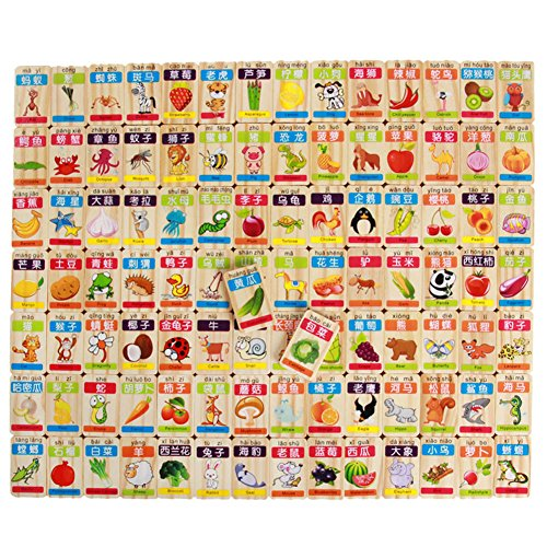 フルーツと動物Dominoブロックおもちゃ教育カラフルな外観Makes It Quite人気with子の商品画像