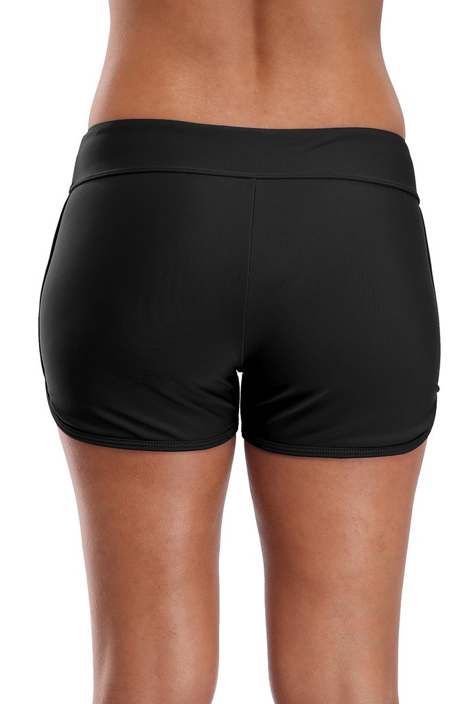 beautyin Solid Swim Shorts for Women Boyshort Swimming Bottoms Boardshorts L by beautyin (Image #3)