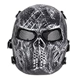 Face Mask Joker - Scary Mask Halloween Skull Mask Army Outdoor Tactical Paintball Mask Full Face Protection Breathable Eco-Friendly Party Decor 02