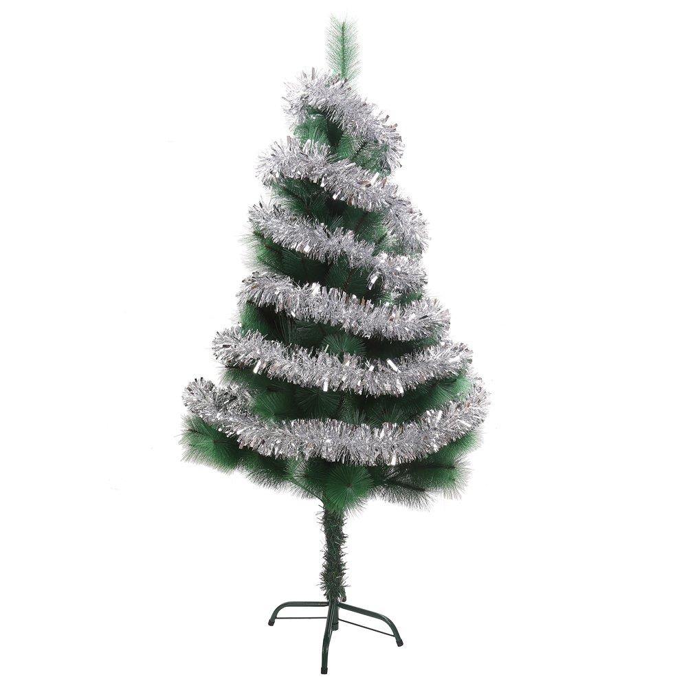 Amazon.com: Decora Silver Tinsel Garland Christmas Tree Decorations ...