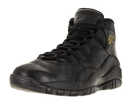 pick up a95b9 93a6f Nike Jordan Men s Air Jordan Retro 10 Black Black Drk Grey Mtllc Gld