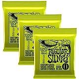 Ernie Ball 2221 Regular Slinky Electric Guitar Strings 10-46 - 3-Pack