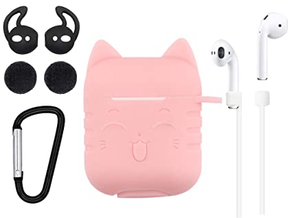 8728045d08a Airpods Case Cat, 5 in 1 Airpods Accessories Kits Airpods Skin Cute  Adorable Lovely Cat