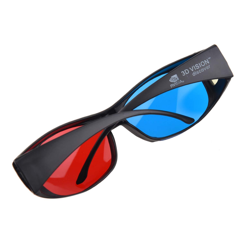 ba99c79cc2 SODIAL(R) Gafas 3D Anaglifo 3D Vision - Hechas para Encajar en Gafas  Graduadas: Amazon.es: Hogar