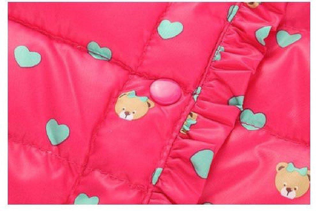 Ruhua Baby Girls Casual Warm Printed Single Breasted Down Parka Coat