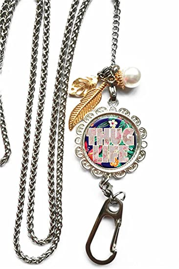 01040b37cf5 Image Unavailable. Image not available for. Color  RhyNSky Thug Life Chain  Lanyard Necklace Bracelet Keychain Eyeglass Holder for ID Card ...
