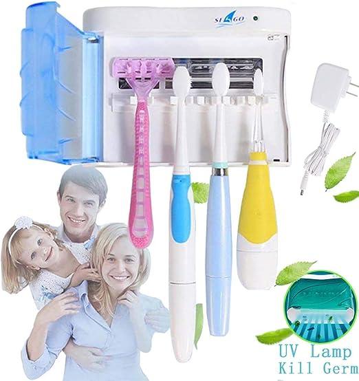 Toothbrush Holder Set Wall Mount Stand Bathroom UV Light Toothbrush Sterilizer