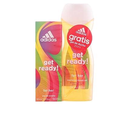 Paquete de colonia y gel de ducha de Adidas, para mujer, Woman Get Ready