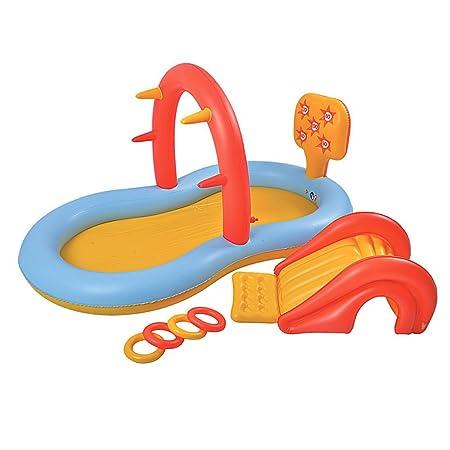 Jilong 97224 Fun Piscina Multigioco con Scivolo e Spruzzi, Multicolore 225 cm x 124 cm x 104 cm: Amazon.it: Giochi e giocattoli