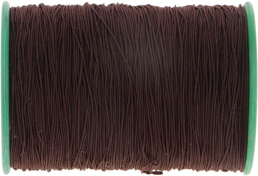 Dark Brown 546 Yards Elastic Stretchy Beading Thread Cord Bracelet String 0.5mm Round