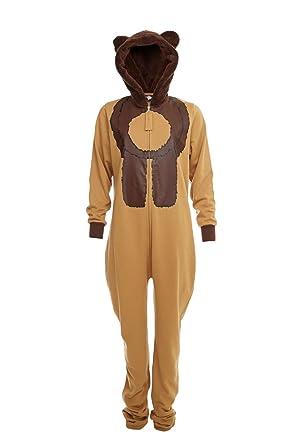 Teddy Bear Brown Adult Ladies Onesie  Amazon.co.uk  Clothing 92d8e0e6b506