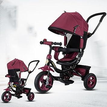 Carrito de bebé Triciclo de los niños, Bicicleta del bebé de la Bicicleta Carretilla del
