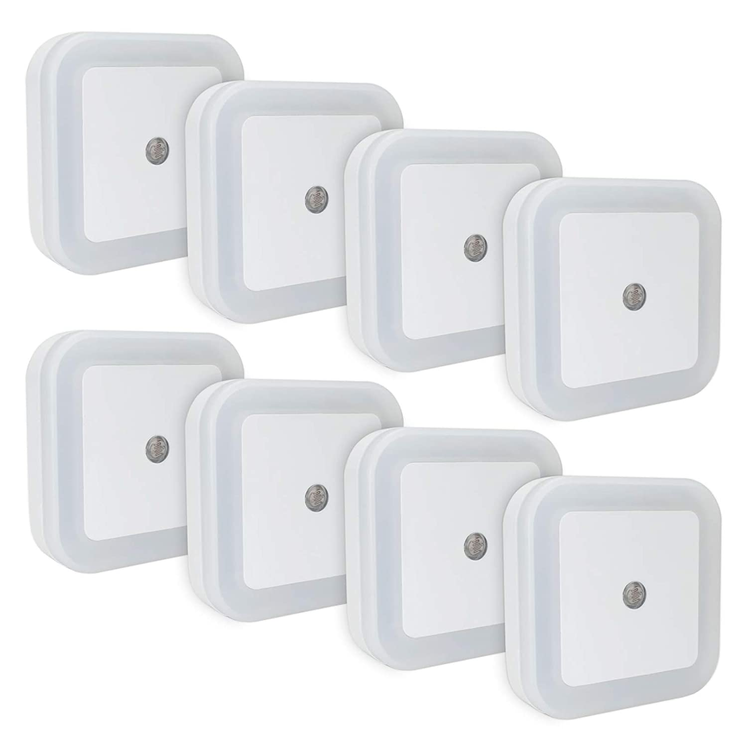 LINCO LED Plug Night Light Wall Lamp with Dusk to Smart Sensor LINCOInc SG/_B06XW4CNF4/_US Pack of 8 T001 8S