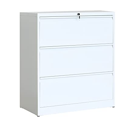 amazon com modernluxe lateral file cabinet 3 drawer with lock and rh amazon com 3 drawer lateral file cabinet white 3 drawer lateral file cabinet black