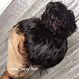 Full Lace Human Hair Wig Curly with Pre-plucked Hairline Brazilian Virgin Hair Lace