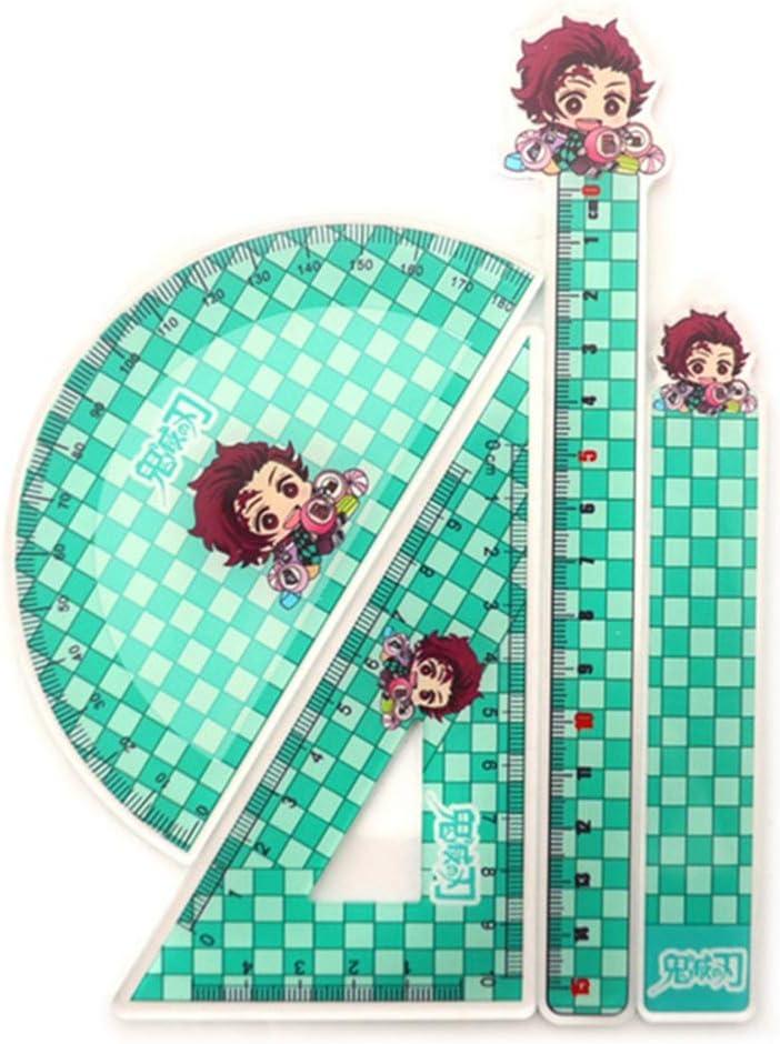 UCAI Demon Slayer : Kimetsu No Yaiba r/ègle fournitures de bureau style 1 papeterie /étude outils de mesure pour gar/çons filles fournitures scolaires
