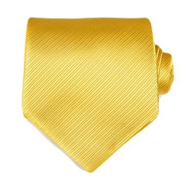 86f8ee07f045 TNS Solid Bright Yellow Wedding Ties Set - Cufflinks Hanky: Amazon ...