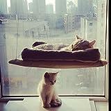 Wiseminnie 20KG Cat Basking Window Hammock Perch Cushion Bed Hanging Shelf Seat
