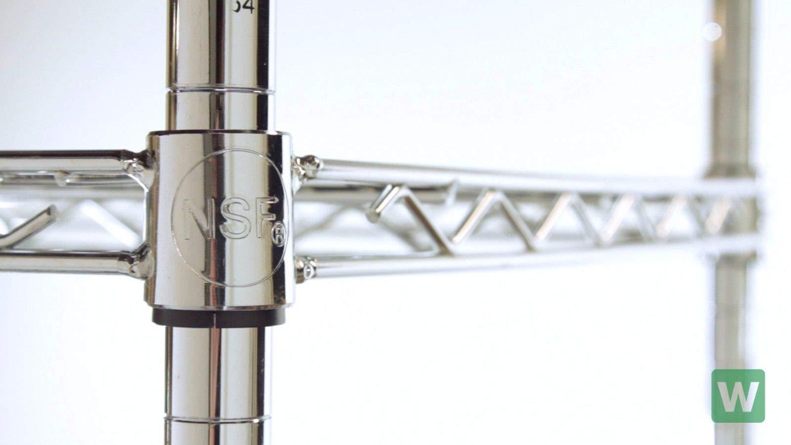 LJ Commercial Chrome Wire Unit 14 x 42-2 Shelf Unit - 14'' Height by LJ