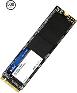 Netac 500GB SSD - Internal SSD NVMe PCIe Gen 3 x4, M.2 2280, 3D NAND Flash, Read Speeds up to 1700MB/s, SLC Cache Performance Internal Solid State Drive for PC/Laptop/Computer/MacPro - N930E Pro