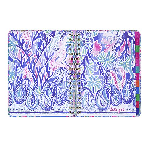 Lilly Pulitzer 17 Month Large Agenda, Personal Planner, 2018-2019 (Mermaid Cove) by Lilly Pulitzer (Image #7)'