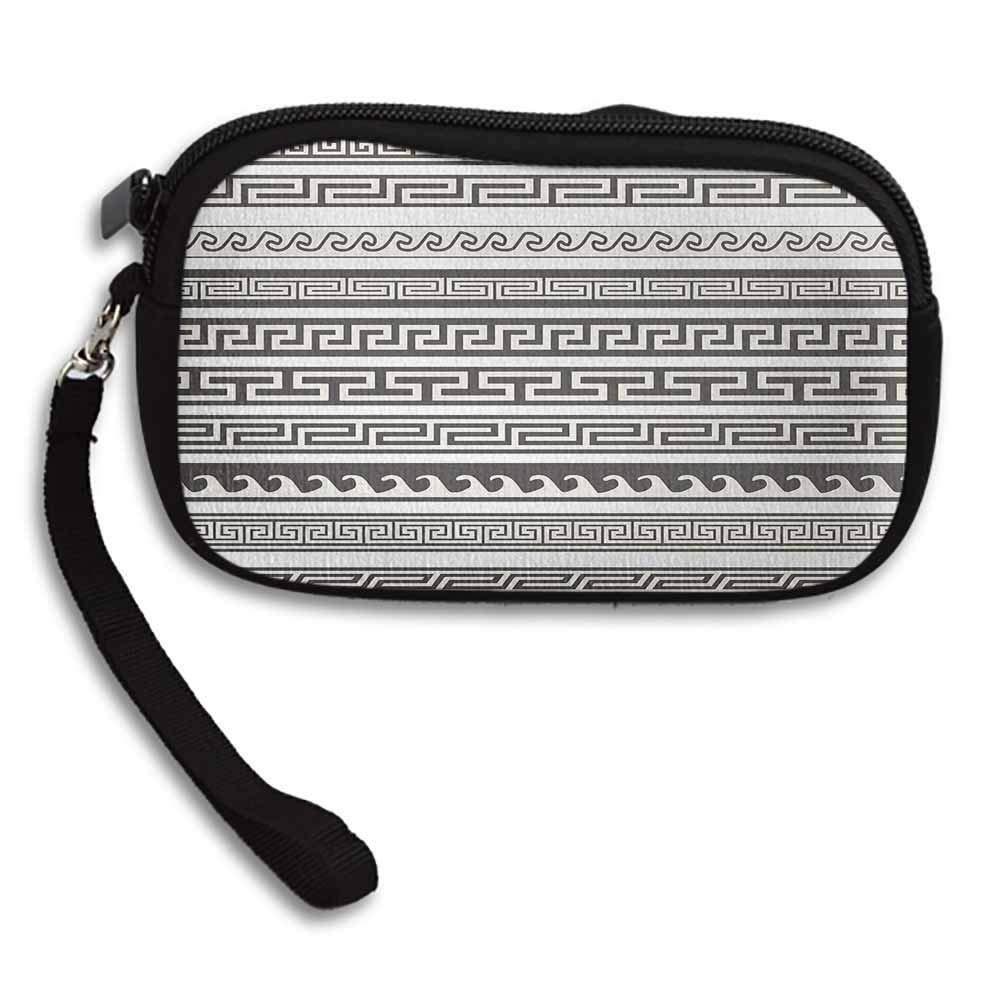Abstract Wallets Tribal Design Ethnic Chevron Stripes Native Linear Ornate Pattern W 5.9x L 3.7 Purse Handbag For Women
