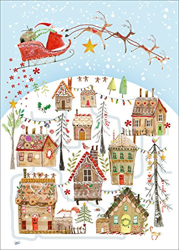Museums & Galleries Gingerbread Village Card Advent Calendar, Multicolor