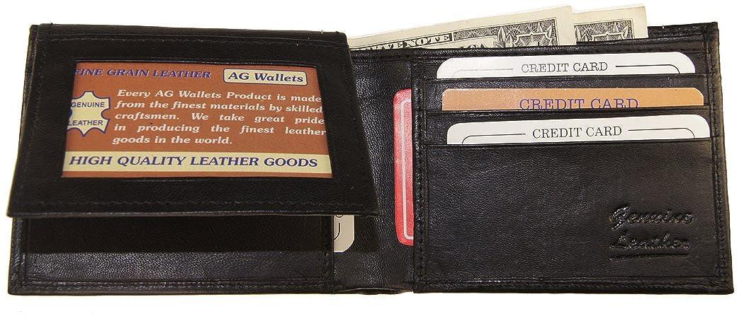 Genuine Leather Snake Skin Designed Bi-fold Mens Embossed Wallet Tan