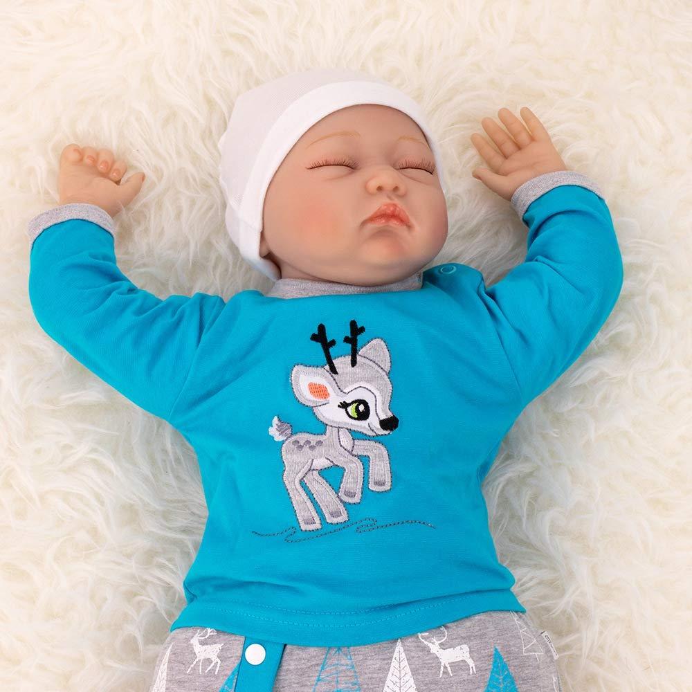 Koala Baby Baby Set Shirt Hose Blau Grau Motiv Reh Babyset 2