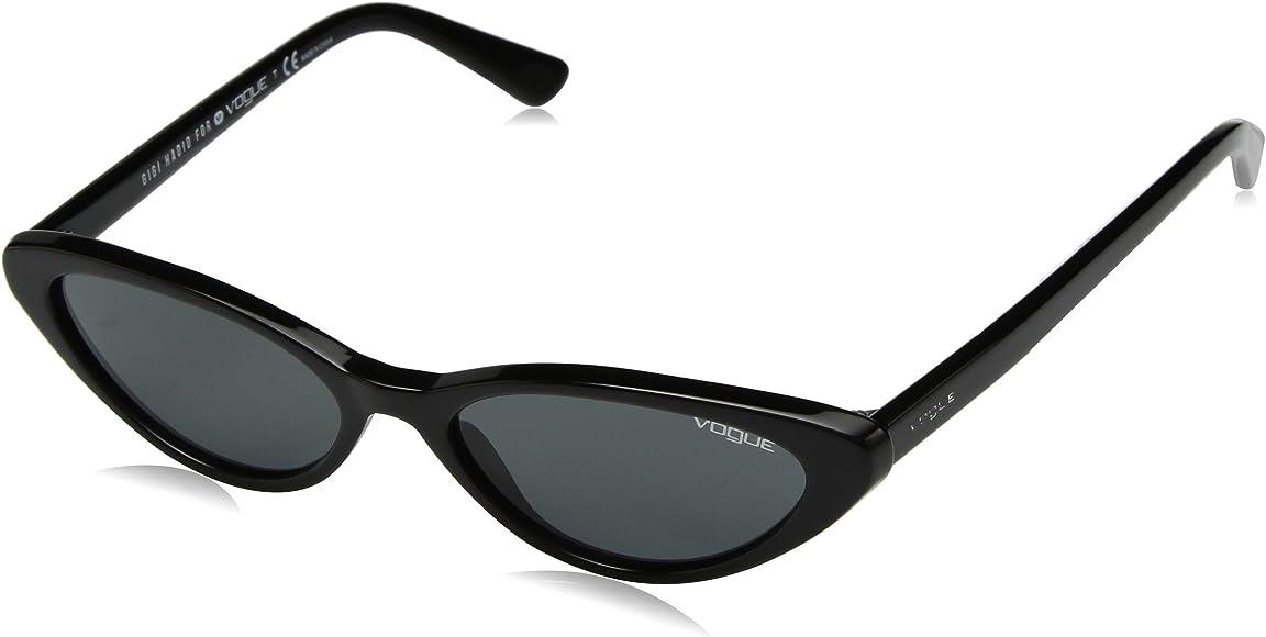 4273be605a Amazon.com: VOGUE Women's Plastic Woman Cateye Sunglasses, Black ...
