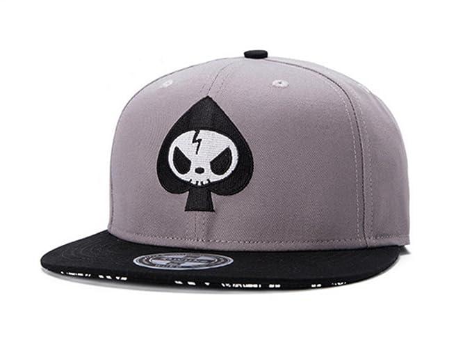 El nuevo hip hop plano a lo largo del cráneo de la parodia de la moda del sombrero gorras bordadas, 3: Amazon.es: Ropa y accesorios