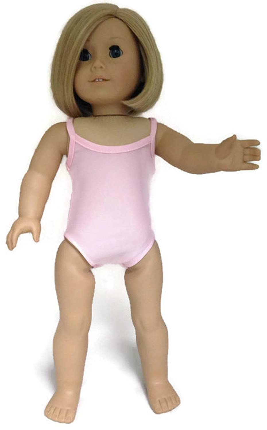 Doris Doll Boutique Pink Gymnastics Leotard and Rainbow Wrap Around Skirt fits 18 inch American Girl Doll PO Fung Co
