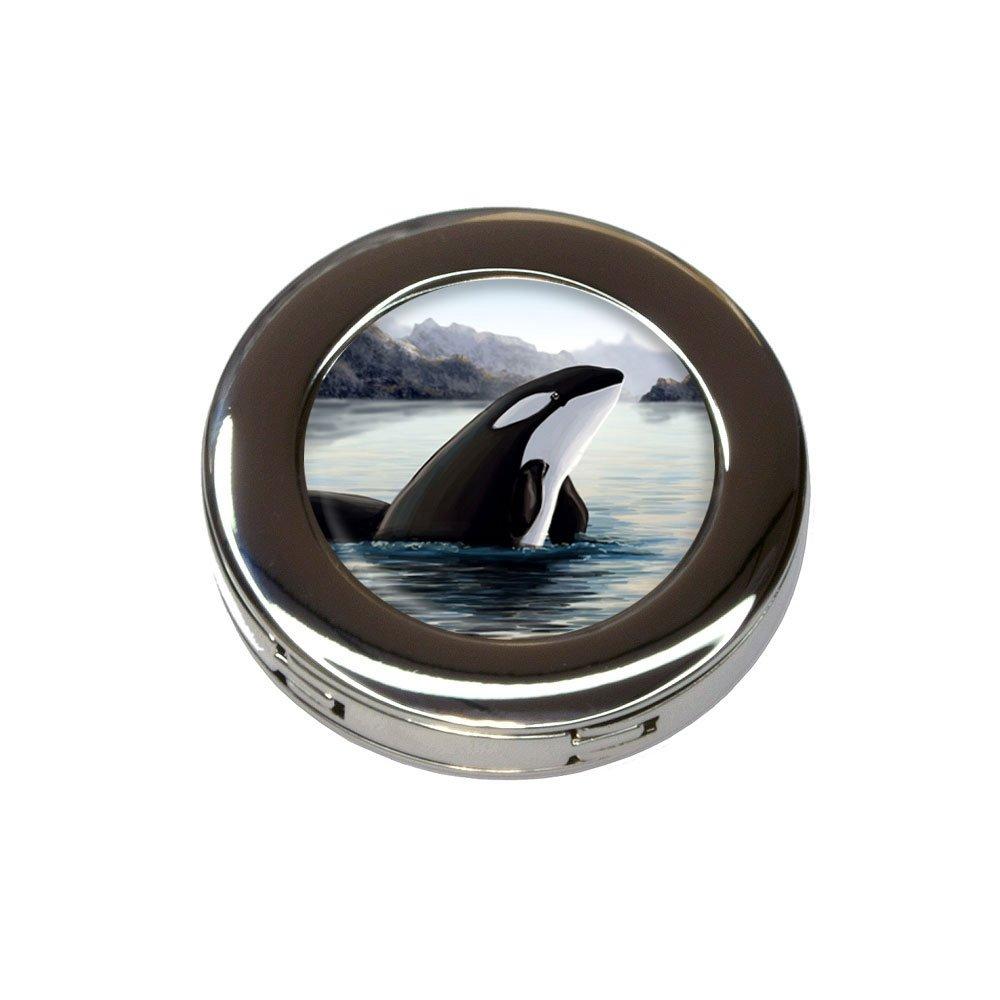 Orca Killer Whale Foldable Retractable Purse Bag Handbag Hook Hanger Holder