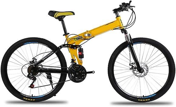 KXDLR Marco De 26 Pulgadas Bicicleta De Montaña Plegable De Acero ...
