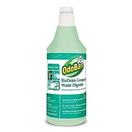 OdoBan 928062-Q12 RTU BioDrain Grease and Waste Digester, 1 qt Bottle - 12 Pack