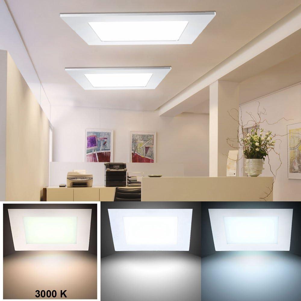 2er Set 24 W Led Decken Einbau Panel Lampe Schlafzimmer Alu Raster Leuchte 1 Flg