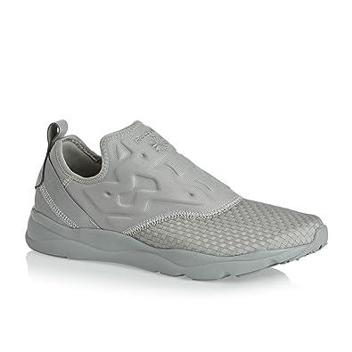 76dad030b20 Reebok Furylite Slip On Trainers Grey 12 UK  Amazon.co.uk  Shoes   Bags