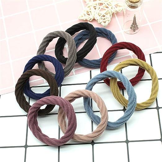 100 Cuerda Piezas de alta elástica for el cabello banda de tela ...