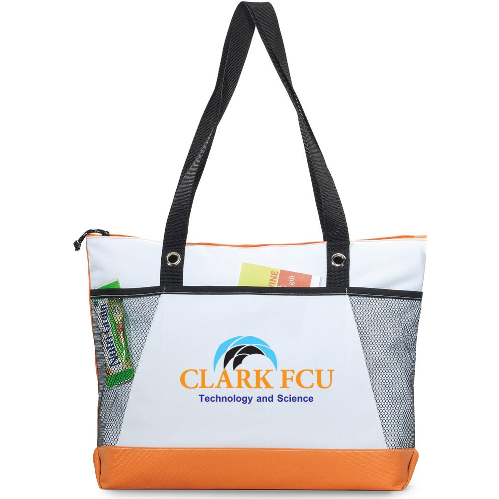 Venture Business Tote - 50 Quantity - $7.10 Each - BRANDED / SCREEN PRINTED with YOUR LOGO / CUSTOMIZED