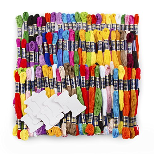 Darice, 117 Piece, Assorted Color Cotton Craft Thread