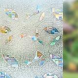 RABBITGOO 3D Window Film Privacy Static Cling Vinyl