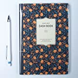 Flowery Cash Book with Pencil, Account Book, 5.3' x 7.7' (adonis)