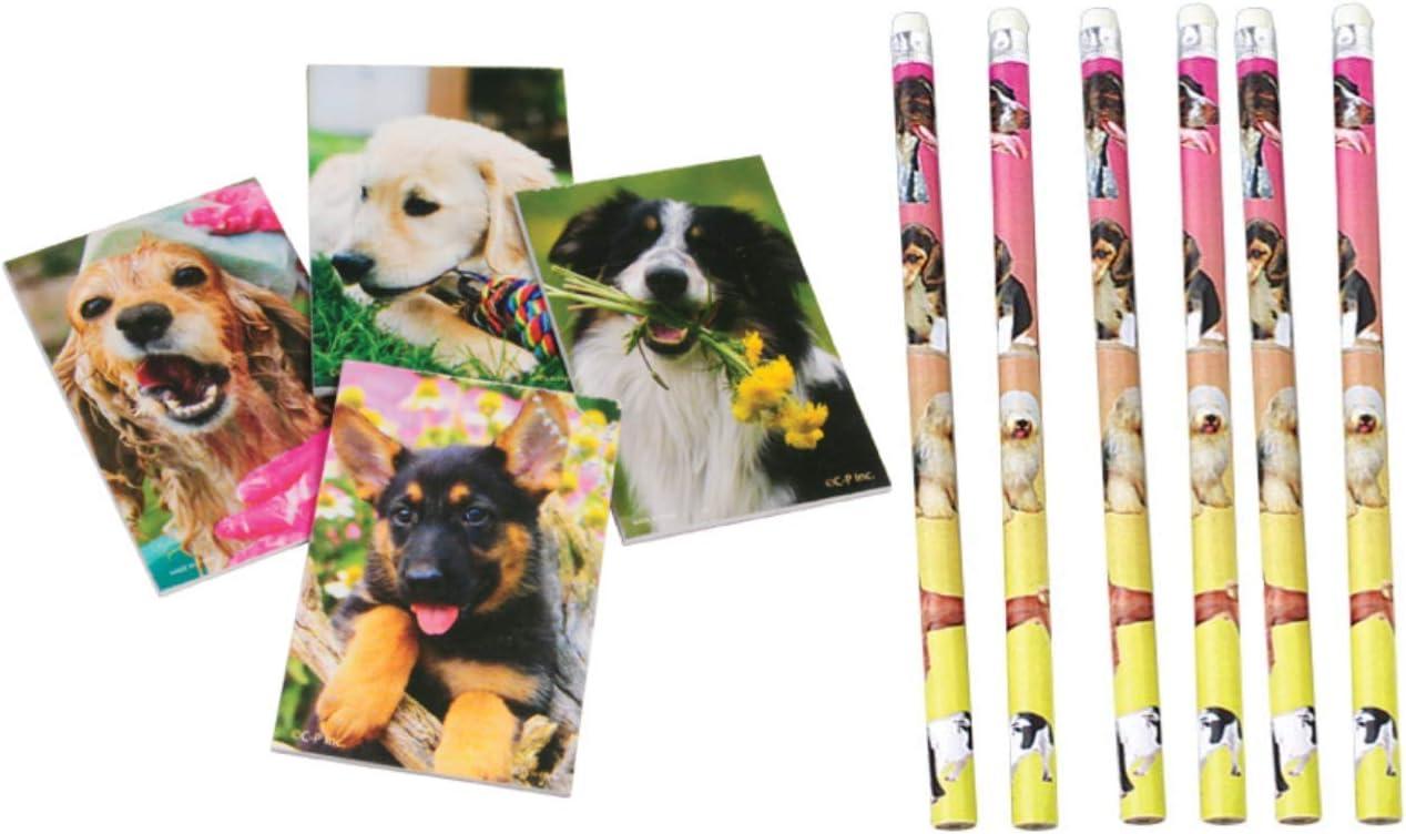 Nikkis Knick Knacks 48 Piece Puppy Dog Notebook and Pencil Set